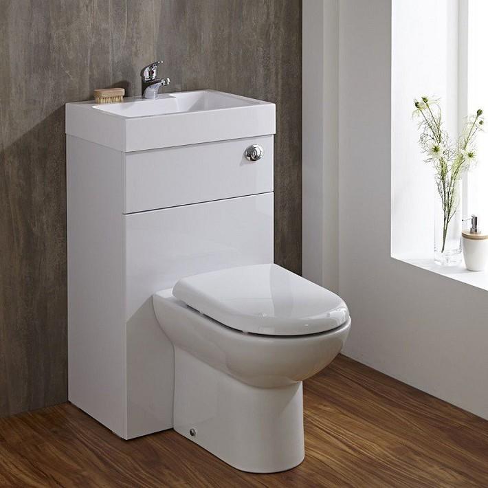 Gợi ý các thiết kế bồn cầu ăn gian diện tích cho những người sở hữu một căn phòng tắm chật hẹp - Ảnh 1.
