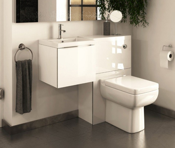 Gợi ý các thiết kế bồn cầu ăn gian diện tích cho những người sở hữu một căn phòng tắm chật hẹp - Ảnh 3.