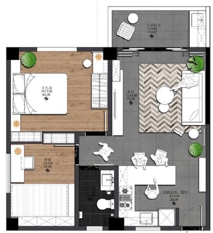 Căn hộ 55m² lột xác sau cải tạo đẹp đến từng góc nhỏ nhờ cách bố trí nội thất thông minh - Ảnh 2.