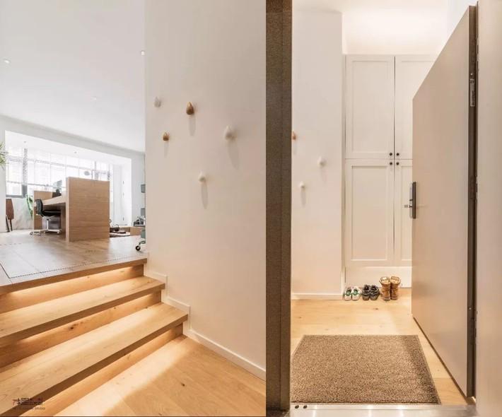 Choáng toàn tập với ngôi nhà sở hữu phòng khách chìm và không gian lưu trữ rộng lớn ẩn dưới mặt sàn bằng gỗ - Ảnh 3.