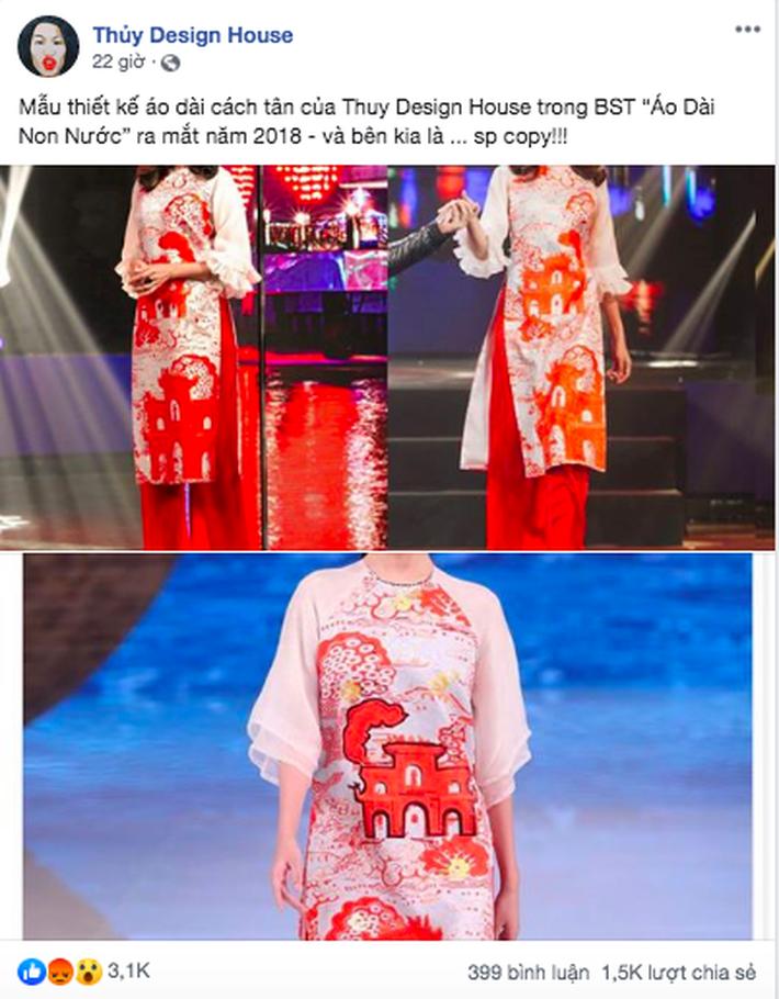 Giữa nghi án áo dài bị copy, NTK Thủy Nguyễn khẳng định: Sản phẩm kia giống thiết kế gốc của tôi đến hơn 90% - Ảnh 1.