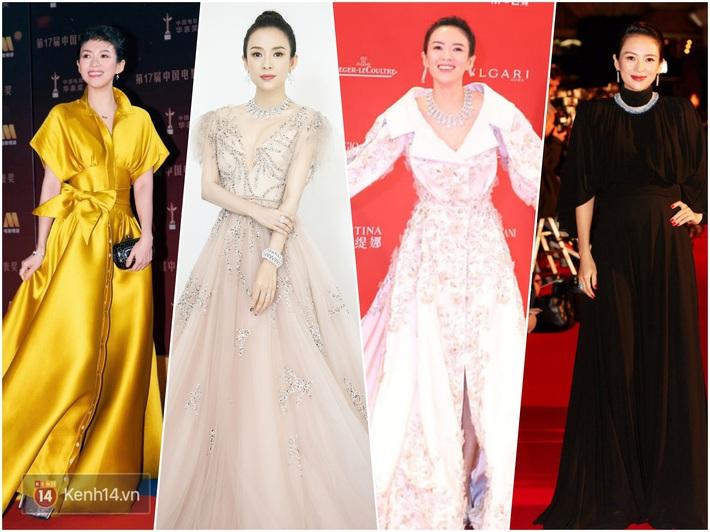 Nữ hoàng thảm đỏ Cbiz 2019: Phạm Gia sa sút phong độ, Triệu Vy ngày một đẳng cấp, Angela Baby và Quan Hiểu Đồng đua đồ Haute Couture - Ảnh 5.