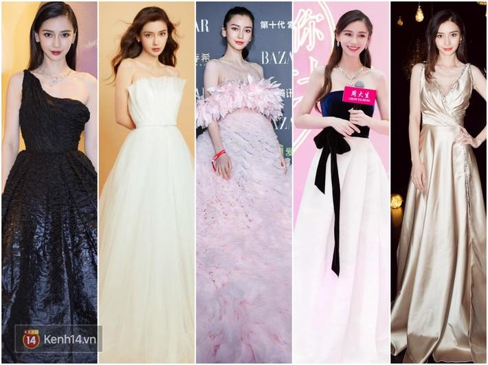 Nữ hoàng thảm đỏ Cbiz 2019: Phạm Gia sa sút phong độ, Triệu Vy ngày một đẳng cấp, Angela Baby và Quan Hiểu Đồng đua đồ Haute Couture - Ảnh 7.