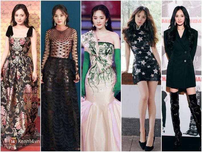 Nữ hoàng thảm đỏ Cbiz 2019: Phạm Gia sa sút phong độ, Triệu Vy ngày một đẳng cấp, Angela Baby và Quan Hiểu Đồng đua đồ Haute Couture - Ảnh 9.