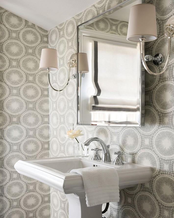 Những mẫu giấy dán tường nhà tắm chẳng thể chê vào đâu được - Ảnh 7.