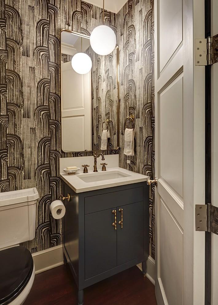 Những mẫu giấy dán tường nhà tắm chẳng thể chê vào đâu được - Ảnh 10.
