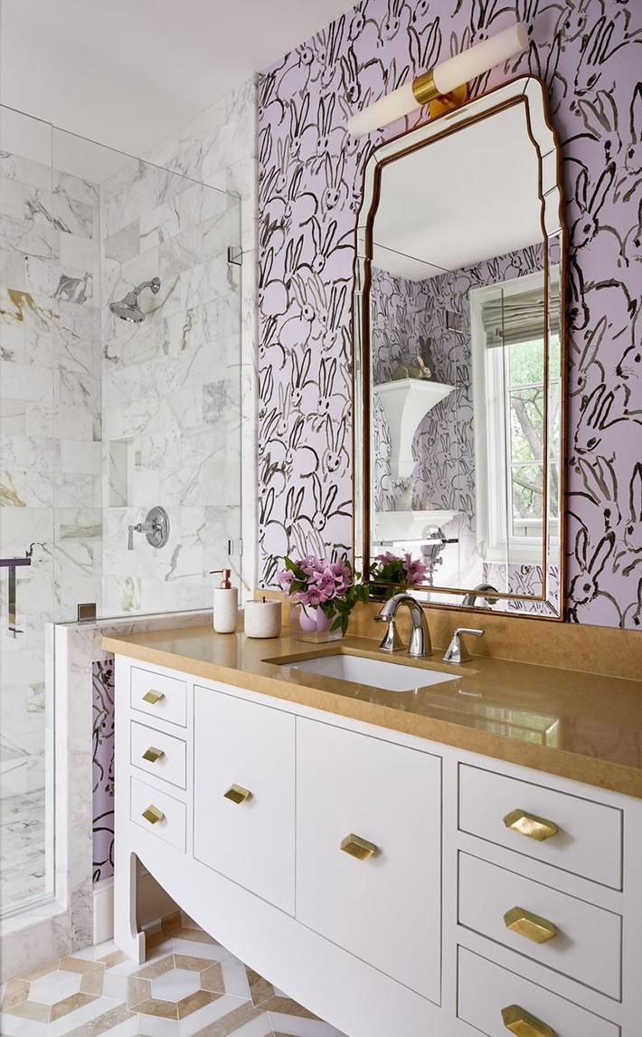 Những mẫu giấy dán tường nhà tắm chẳng thể chê vào đâu được - Ảnh 11.