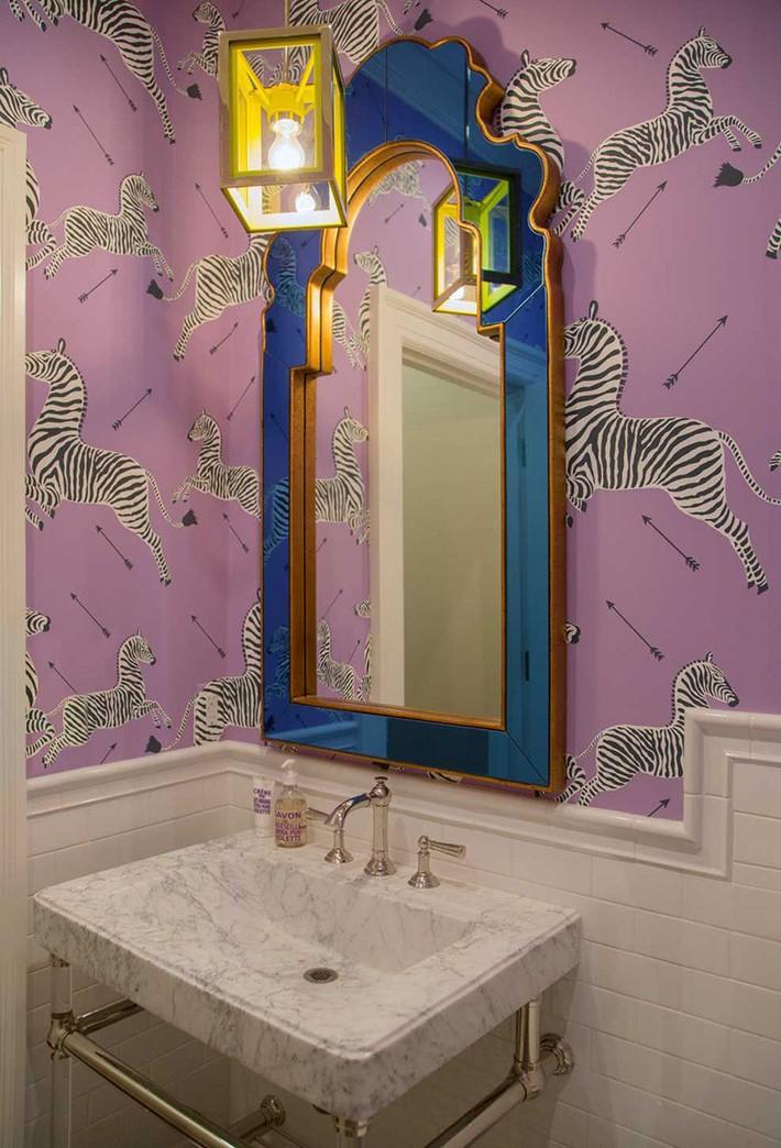 Những mẫu giấy dán tường nhà tắm chẳng thể chê vào đâu được - Ảnh 16.