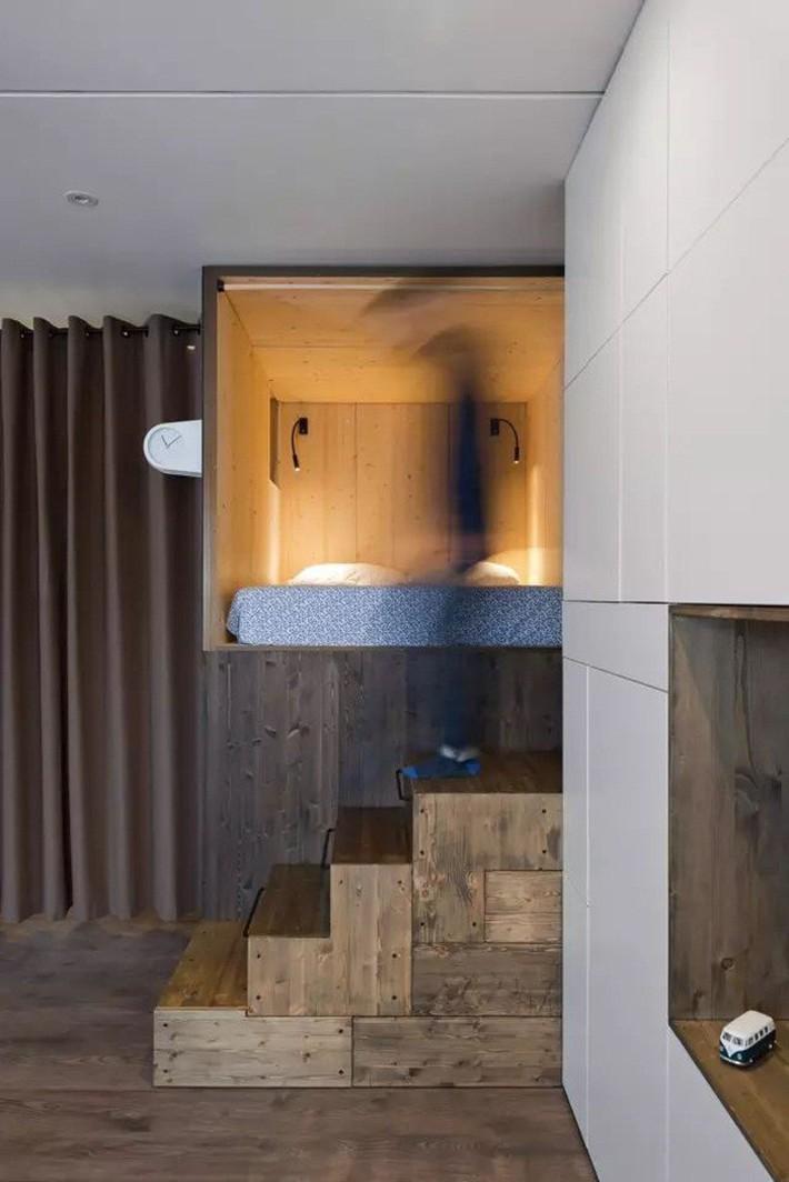 Căn hộ chỉ 35m² nhưng đẹp nổi bật và ấn tượng với bồn tắm rộng rãi, sang chảnh của vợ chồng trẻ - Ảnh 6.