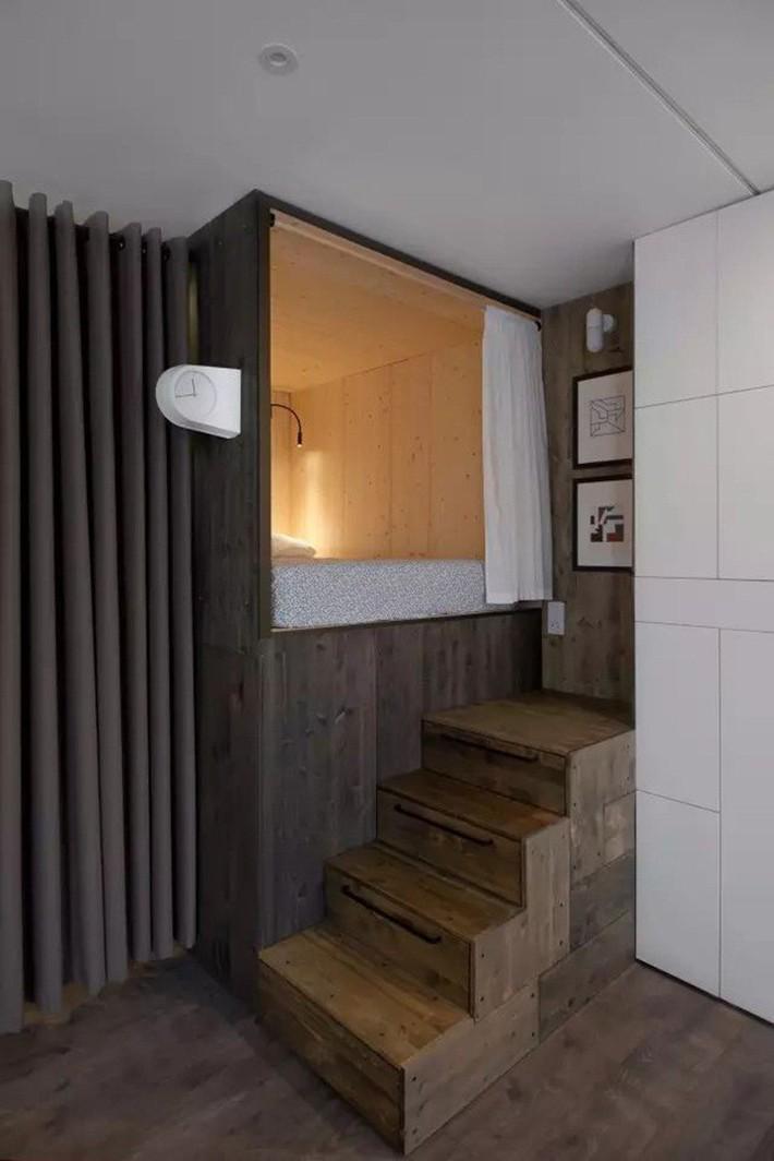 Căn hộ chỉ 35m² nhưng đẹp nổi bật và ấn tượng với bồn tắm rộng rãi, sang chảnh của vợ chồng trẻ - Ảnh 4.