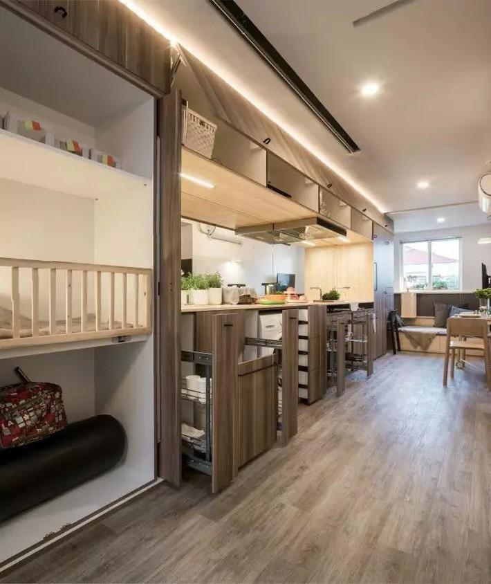 Vợ chồng trẻ cải tạo nhà tập thể cũ 37m² từ ai đến mua cũng chê thành tổ ấm sang chảnh vạn người mê - Ảnh 5.