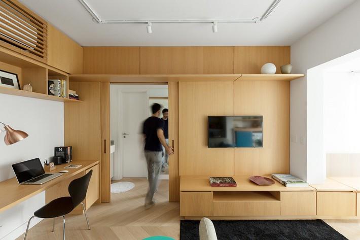 Kiến trúc sư khéo léo nhất hệ mặt trời vì thiết kế căn hộ nhỏ vừa đơn giản, thông minh mà vẫn ăn gian được không gian sống - Ảnh 5.