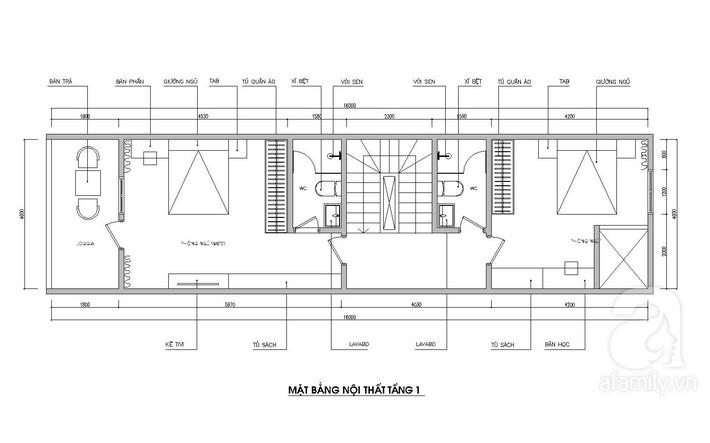 Tư vấn thiết kế nhà ống 64m² để đảm bảo 2 công năng vừa ở vừa cho thuê rất hợp lí - Ảnh 2.