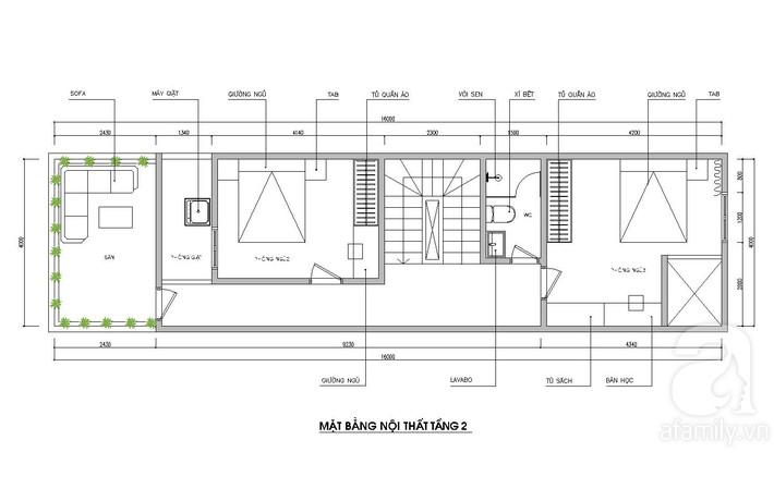 Tư vấn thiết kế nhà ống 64m² để đảm bảo 2 công năng vừa ở vừa cho thuê rất hợp lí - Ảnh 3.