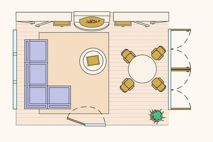 Có 10 bản vẽ thiết kế phòng khách cực tỉ mỉ này thì bạn còn lo gì việc trăn trở xem bố trí phòng khách thế nào cho hợp lý - Ảnh 10.