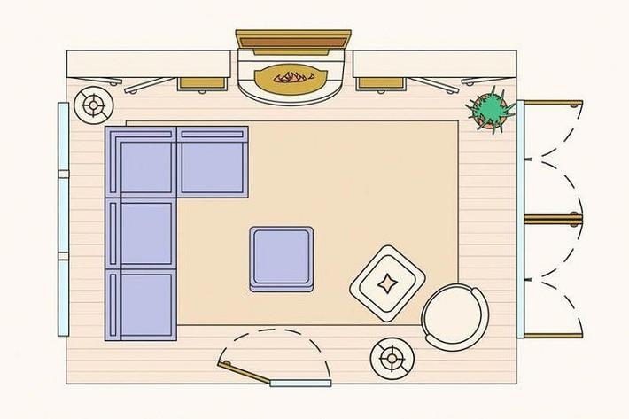 Có 10 bản vẽ thiết kế phòng khách cực tỉ mỉ này thì bạn còn lo gì việc trăn trở xem bố trí phòng khách thế nào cho hợp lý - Ảnh 4.