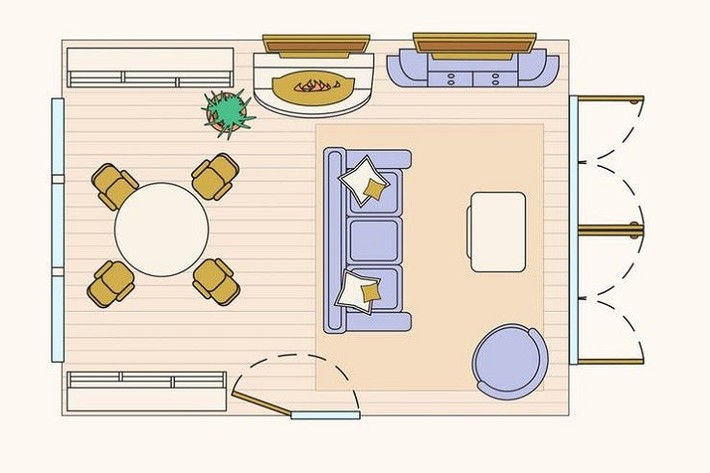 Có 10 bản vẽ thiết kế phòng khách cực tỉ mỉ này thì bạn còn lo gì việc trăn trở xem bố trí phòng khách thế nào cho hợp lý - Ảnh 9.
