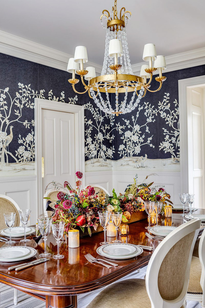 Những thiết kế phòng ăn dành riêng cho những gia đình yêu thích phong cách cổ điển - Ảnh 4.