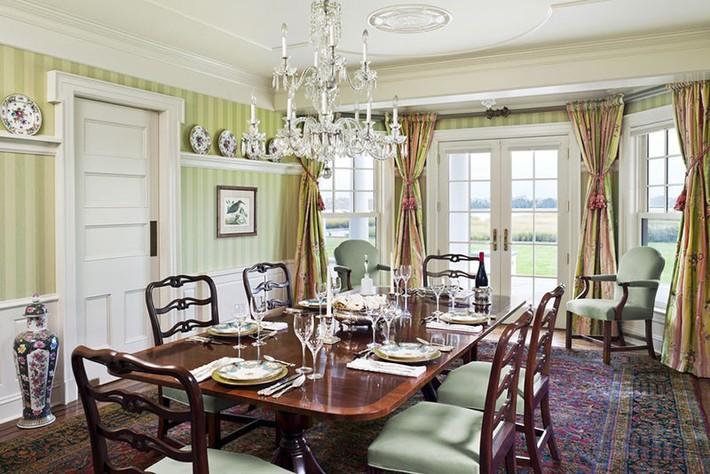 Những thiết kế phòng ăn dành riêng cho những gia đình yêu thích phong cách cổ điển - Ảnh 6.
