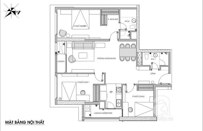 Chưa đến 250 triệu, chủ nhân của căn hộ 110m² này đã được KTS tư vấn thiết kế một không gian sống thanh lịch và ấn tượng - Ảnh 1.