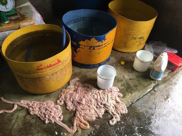 Kinh hãi hàng trăm kg nội tạng động vật hôi thối sơ chế cạnh khu vực bãi rác ở Đà Nẵng - Ảnh 1.