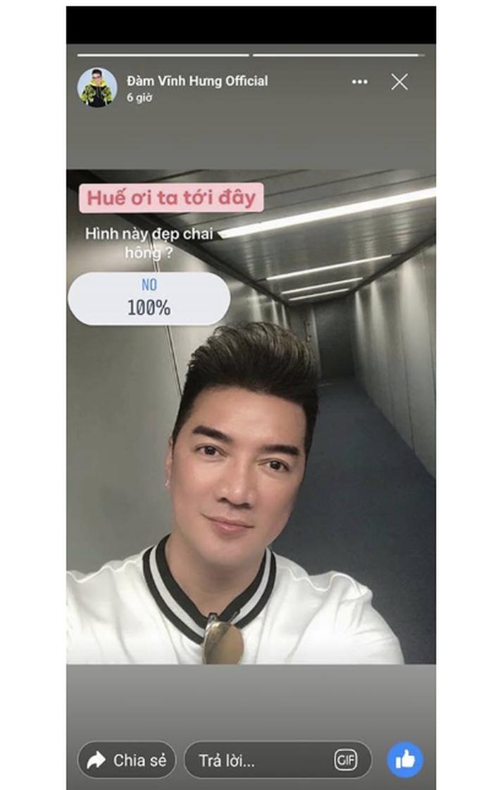 Fanpage của Đàm Vĩnh Hưng đăng ảnh tự sướng của anh trên story và nhận được phản hồi không thể phũ hơn từ người hâm mộ - Ảnh 1.