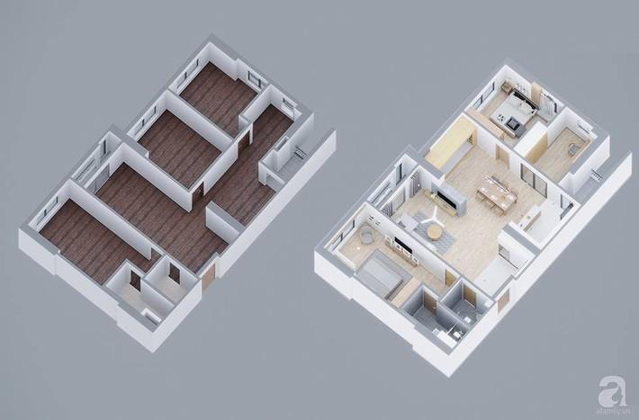 Căn hộ 120m² đẹp hiện đại, ấm cúng với màu gỗ làm chủ đạo của cặp vợ chồng trẻ mới cưới ở Hà Nội - Ảnh 3.