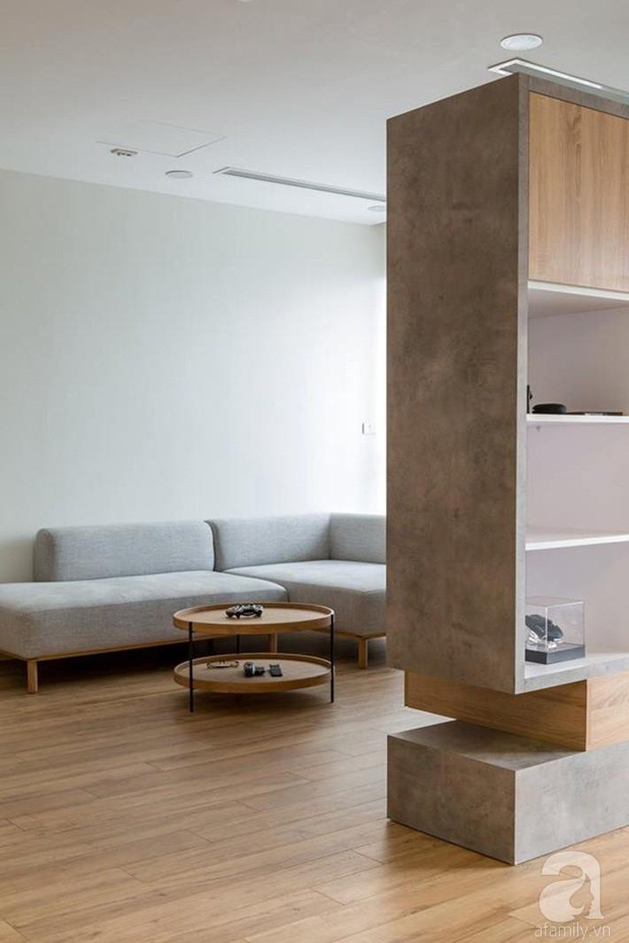 Căn hộ 120m² đẹp hiện đại, ấm cúng với màu gỗ làm chủ đạo của cặp vợ chồng trẻ mới cưới ở Hà Nội - Ảnh 5.