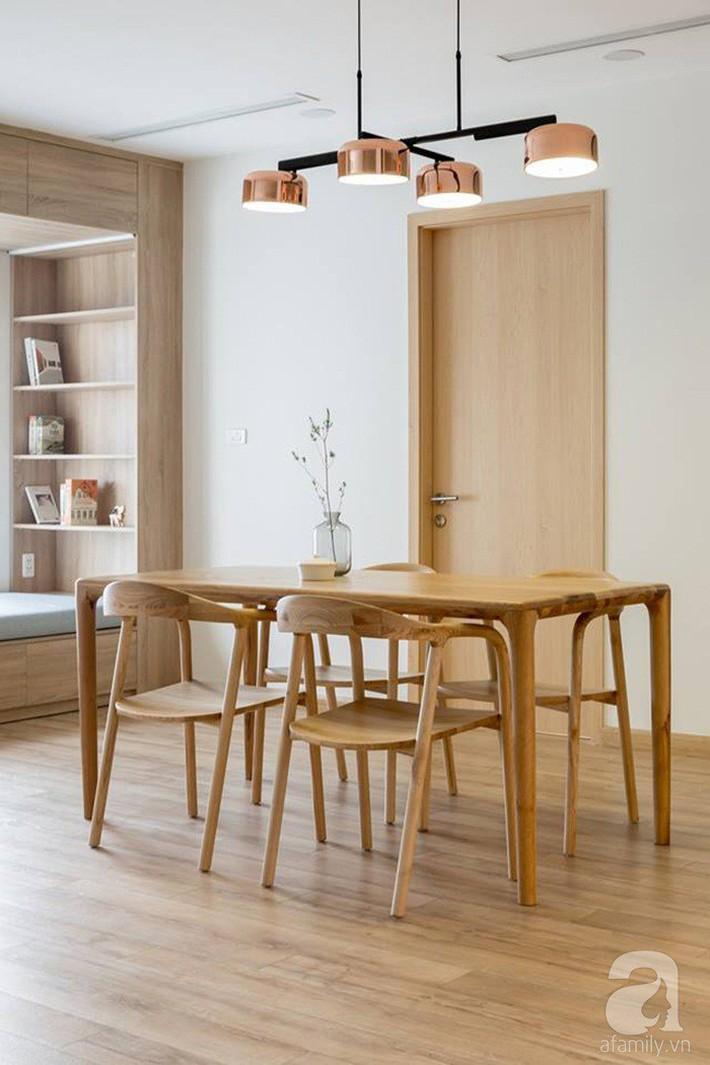 Căn hộ 120m² đẹp hiện đại, ấm cúng với màu gỗ làm chủ đạo của cặp vợ chồng trẻ mới cưới ở Hà Nội - Ảnh 8.