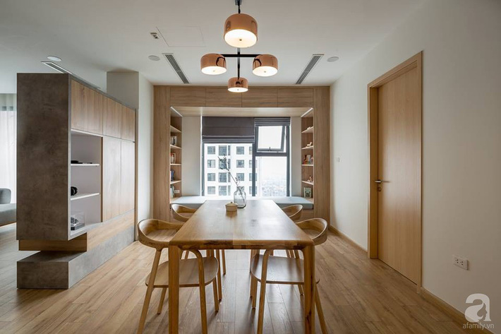 Căn hộ 120m² đẹp hiện đại, ấm cúng với màu gỗ làm chủ đạo của cặp vợ chồng trẻ mới cưới ở Hà Nội - Ảnh 7.