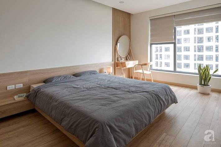 Căn hộ 120m² đẹp hiện đại, ấm cúng với màu gỗ làm chủ đạo của cặp vợ chồng trẻ mới cưới ở Hà Nội - Ảnh 15.