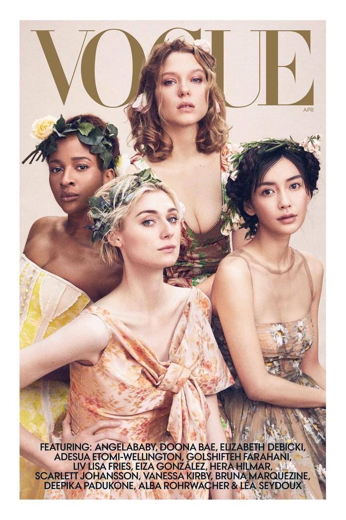 Lên bìa Vogue Mỹ cùng dàn minh tinh thế giới, bao nhiêu thần thái của Angela Baby bay biến sạch sẽ - Ảnh 1.