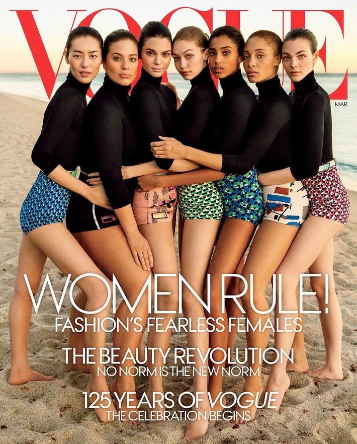 """Khác với Angela Baby, Liu Wen chính là sao Hoa ngữ lên Vogue Mỹ cùng loạt mỹ nhân đình đám mà không hề bị """"dìm"""" - Ảnh 2."""