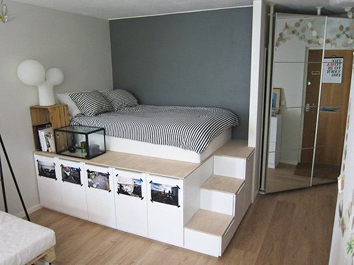Tư vấn thiết kế phòng ngủ siêu nhỏ 8m² đầy đủ tiện ích cho đôi vợ chồng trẻ - Ảnh 2.