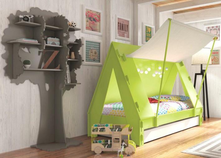 Mẫu thiết kế tủ sách dựa trên ý tưởng cây xanh giúp bé thích đọc sách hơn - Ảnh 4.