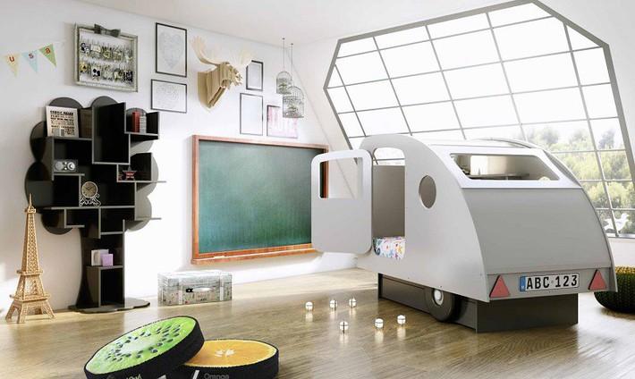 Mẫu thiết kế tủ sách dựa trên ý tưởng cây xanh giúp bé thích đọc sách hơn - Ảnh 5.