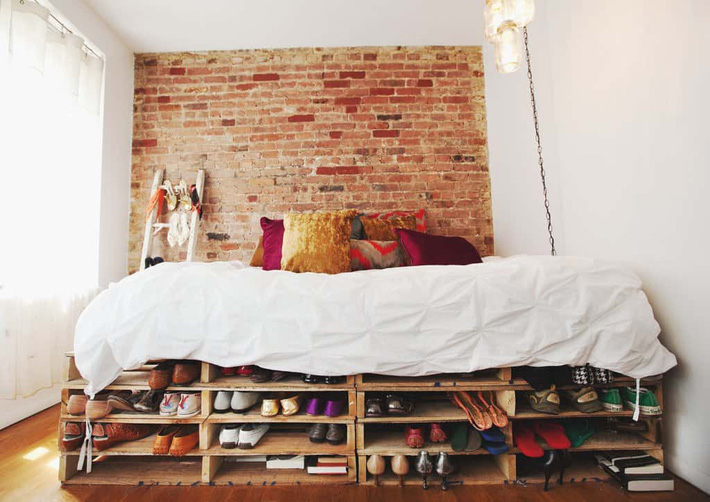 Giường pallet, loại giường ngon - bổ - rẻ, góp mặt trong không gian nào cũng xinh xắn, hài hòa - Ảnh 2.