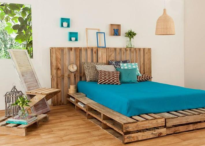 Giường pallet, loại giường ngon - bổ - rẻ, góp mặt trong không gian nào cũng xinh xắn, hài hòa - Ảnh 3.