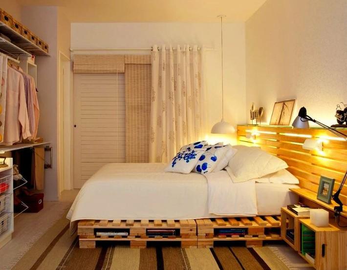 Giường pallet, loại giường ngon - bổ - rẻ, góp mặt trong không gian nào cũng xinh xắn, hài hòa - Ảnh 4.