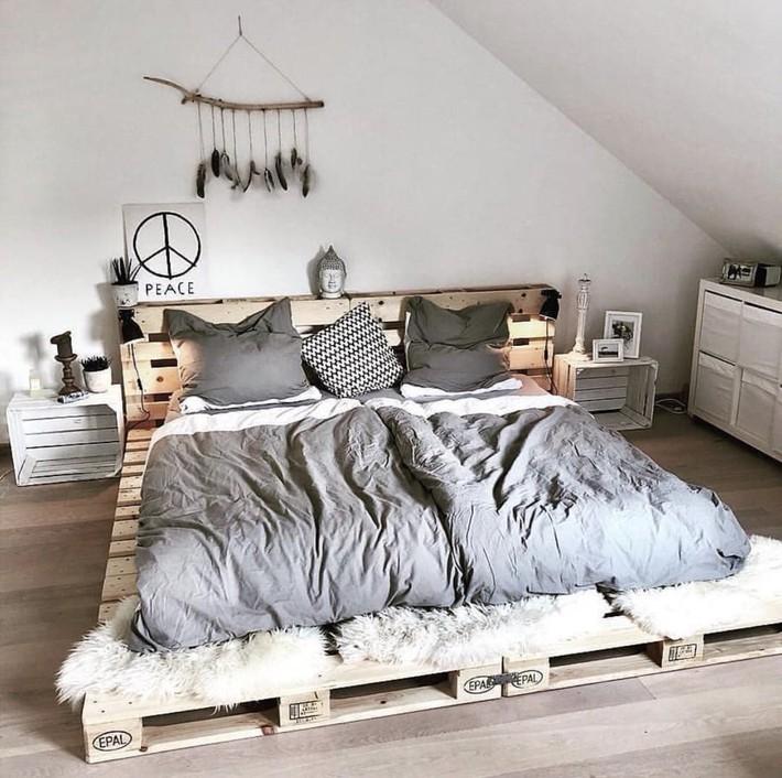 Giường pallet, loại giường ngon - bổ - rẻ, góp mặt trong không gian nào cũng xinh xắn, hài hòa - Ảnh 9.