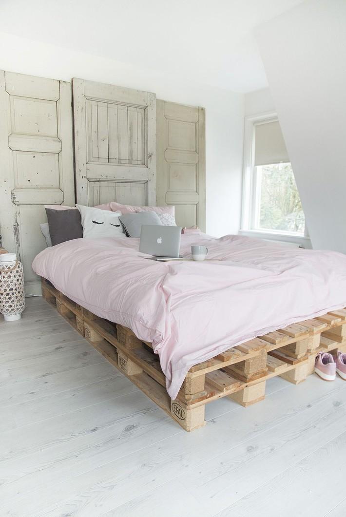 Giường pallet, loại giường ngon - bổ - rẻ, góp mặt trong không gian nào cũng xinh xắn, hài hòa - Ảnh 10.
