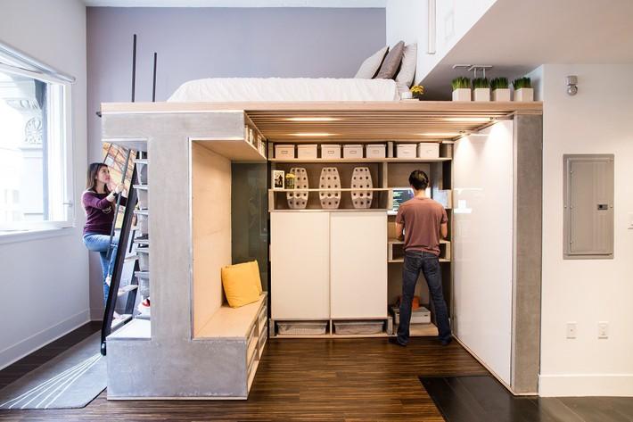 Cuộc đấu tranh để nhét thật nhiều vật dụng vào một phòng ngủ nhỏ đã đến hồi kết khi có quá nhiều các ý tưởng thiết kế truyền cảm hứng thế này đây - Ảnh 2.