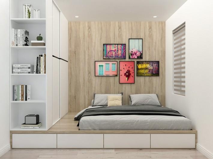 Tư vấn thiết kế phòng ngủ siêu bé với diện tích 8,4m² cho gia đình 5 người - Ảnh 10.