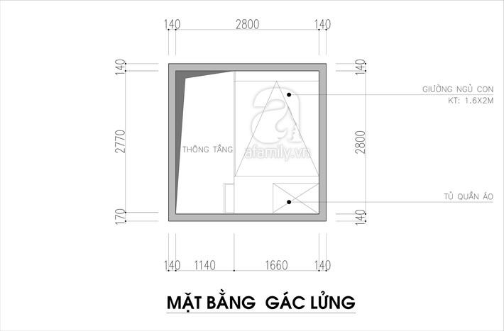 Tư vấn thiết kế phòng ngủ siêu bé với diện tích 8,4m² cho gia đình 5 người - Ảnh 2.