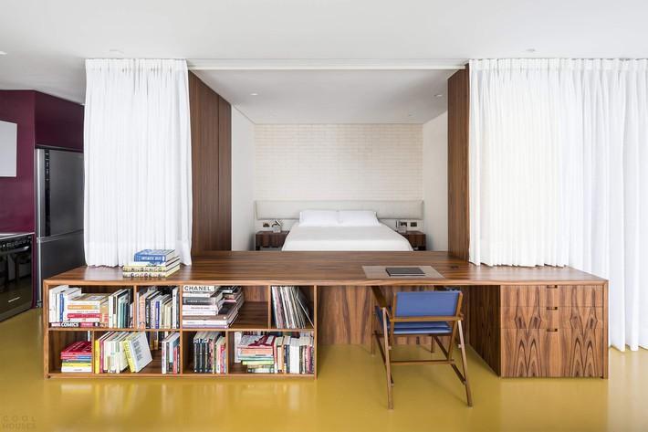 Studio biến thành căn hộ hiện đại trong tích tắc nhờ điều chỉnh rèm cửa và nội thất - Ảnh 6.