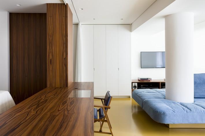 Studio biến thành căn hộ hiện đại trong tích tắc nhờ điều chỉnh rèm cửa và nội thất - Ảnh 7.