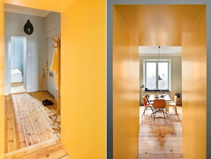 Cải tạo căn hộ gần trăm tuổi thành nơi ở hiện đại nhờ sắc vàng ấm áp - Ảnh 9.