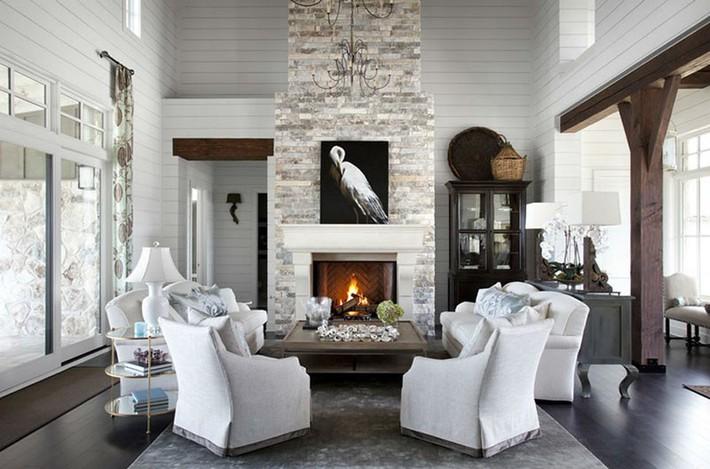 Điểm danh vài mẫu lò sưởi cực thích hợp cho phòng khách gia đình thêm phần ấm cúng - Ảnh 11.