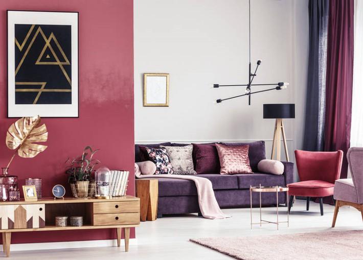 4 ý tưởng trang trí nhà với màu tím cho không gian hiện đại, gợi cảm - Ảnh 3.