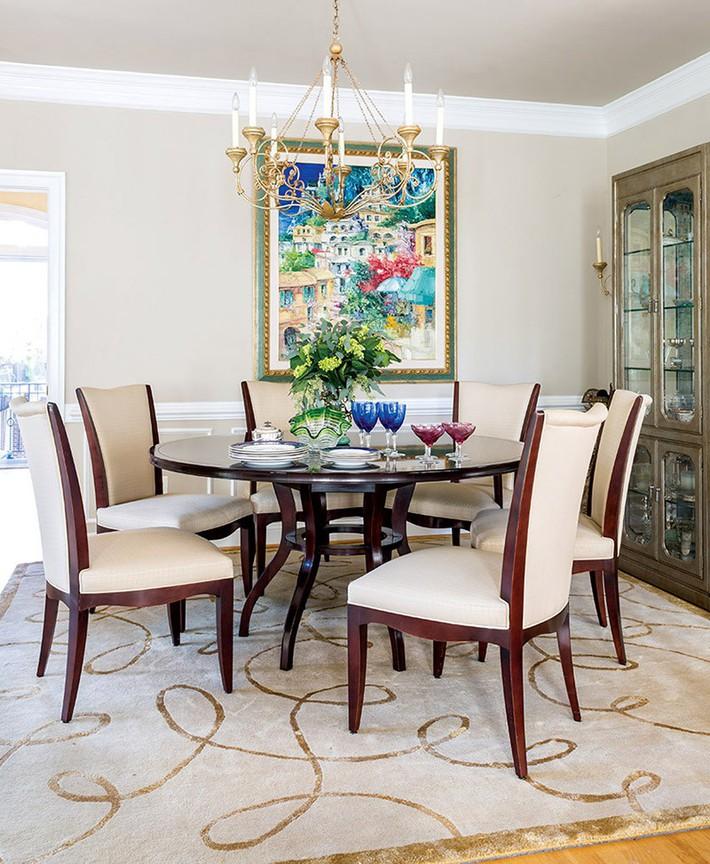 Không cần phải đắn đo nhiều vì bàn tròn luôn là lựa chọn tuyệt vời cho phòng ăn gia đình - Ảnh 19.